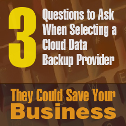 Three Questions to Ask When Selecting a Cloud Data Backup Provider – They Could Save Your Business