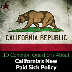 California Paid Sick Policy