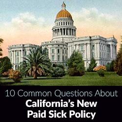 Paid Sick Leave California Law AB 1522