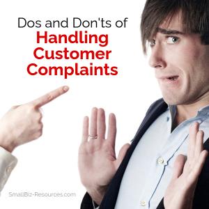 Handling Customer Complaints